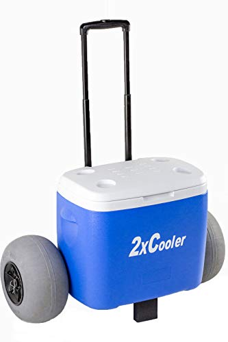 All Terrain Wheeled Cooler with Inflatable Tires