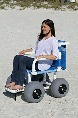 Beach Wheelchair With Balloon Tires for Soft Sand