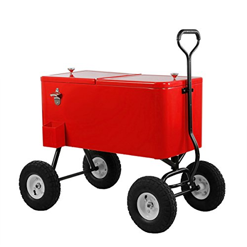 Clevr 80 Quart Rolling Party Ice Chest