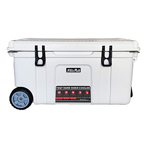 XtremepowerUS 79-Quart Heavy Duty Rolling Ice Chest Cooler w/Wheels