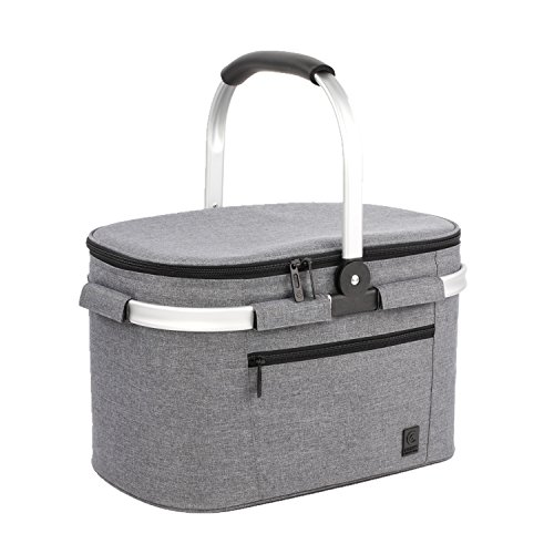 ALLCAMP Collapsible Insulated Picnic Basket Cooler