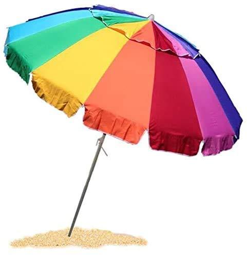 EasyGo 8 Foot Heavy Duty Wind Beach Umbrella
