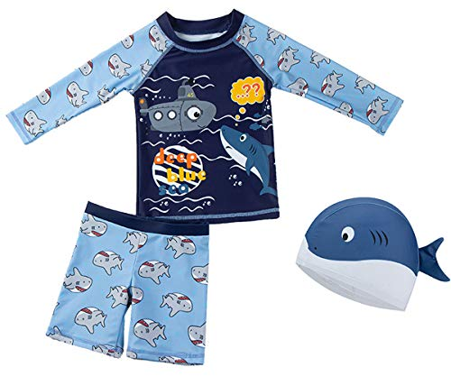 Childlike Me Two Pieces Swimsuit Set for Boys