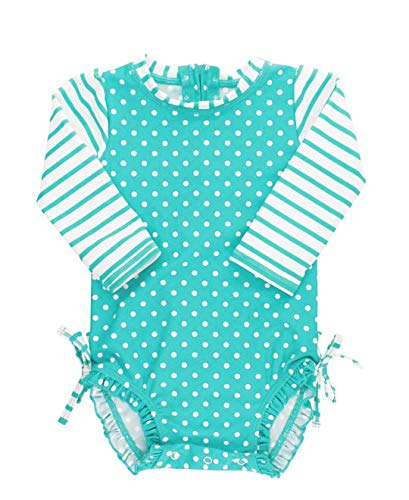 RuffleButts Baby/Toddler Girl Long Sleeve One Piece Swimsuit