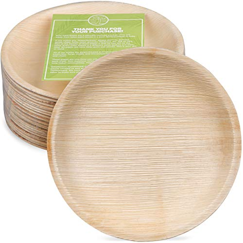Bamboo Style Palm Leaf Plates