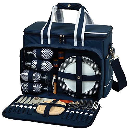 Picnic at Ascot Insulated Picnic Cooler with Service for 4