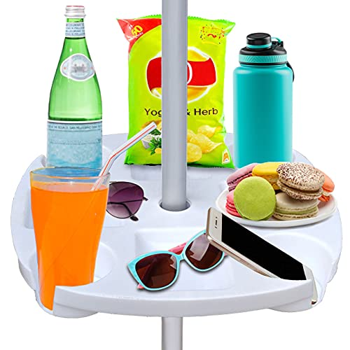 AMMSUN Sun Umbrella Table With Cup Holder