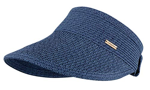 Livingston Wide Brim Roll-up Foldable Straw Sun Hat Visors