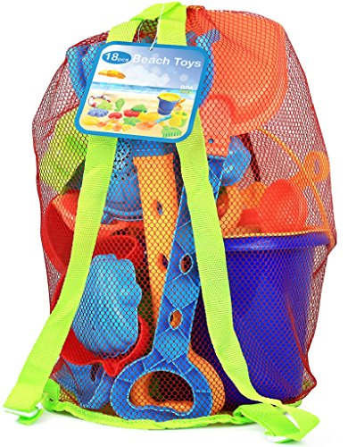 18 Pieces beach toys set for toddlers