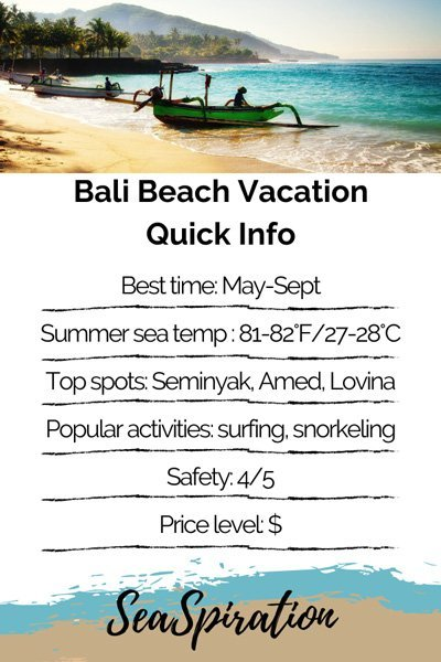 Bali Beach Vacation quick info