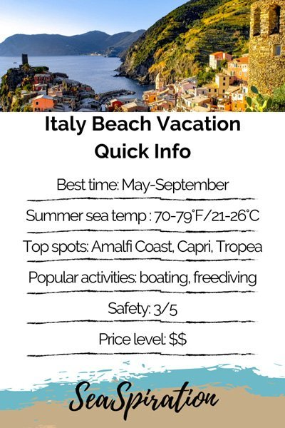 Italy Beach Vacation quick info