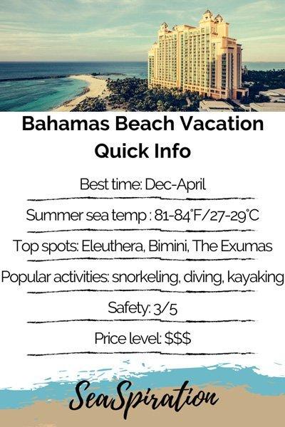 Bahamas beach vacation tips quick info