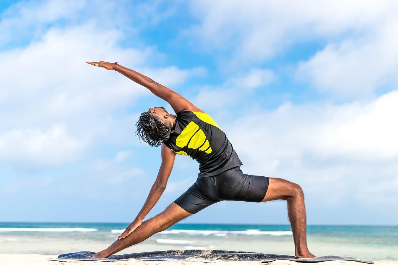 Beach yoga Bahamas