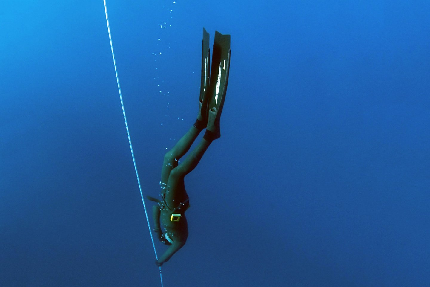 Freediver in Italy