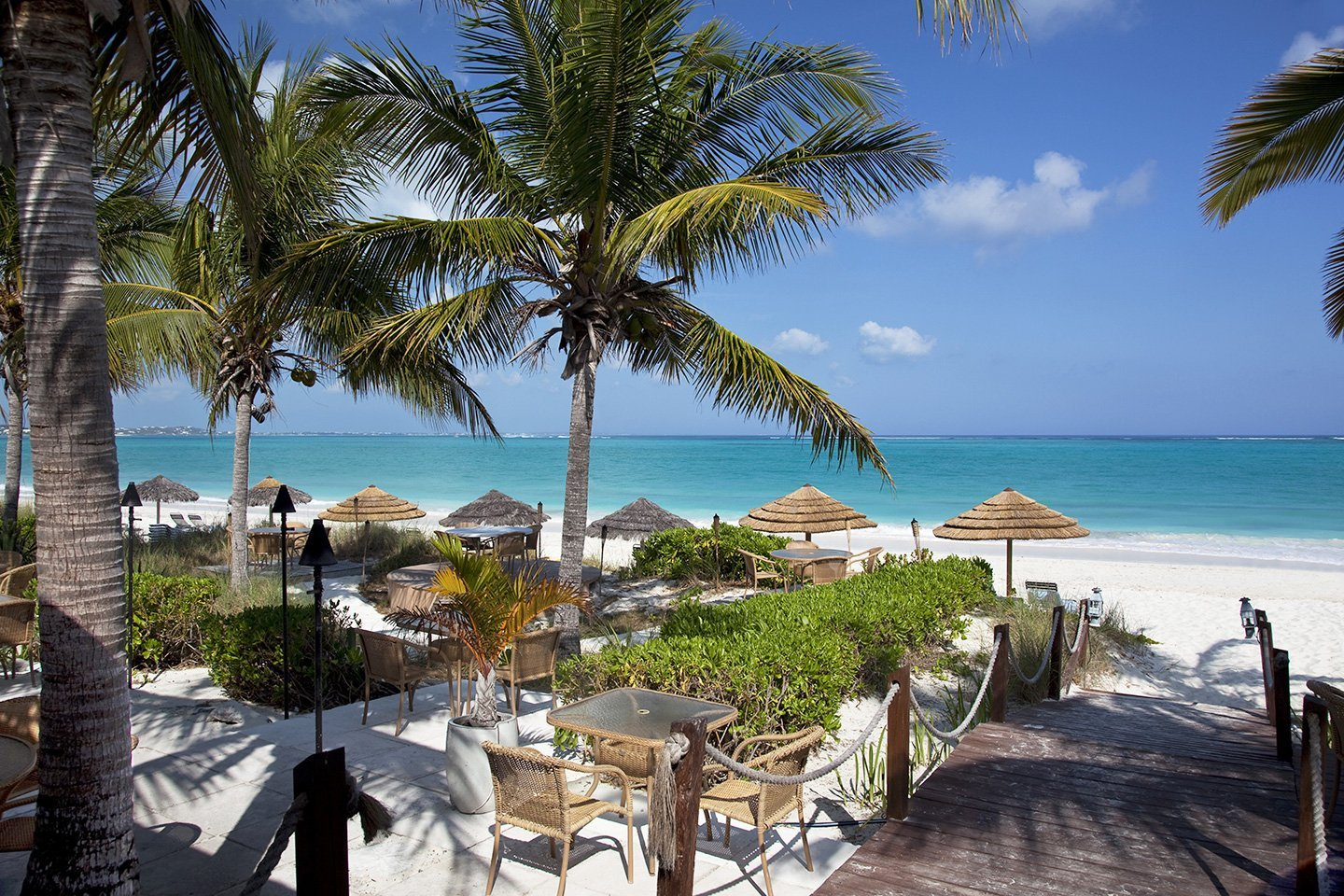 Restaurant in Grace Bay Beach - Turks and Caicos