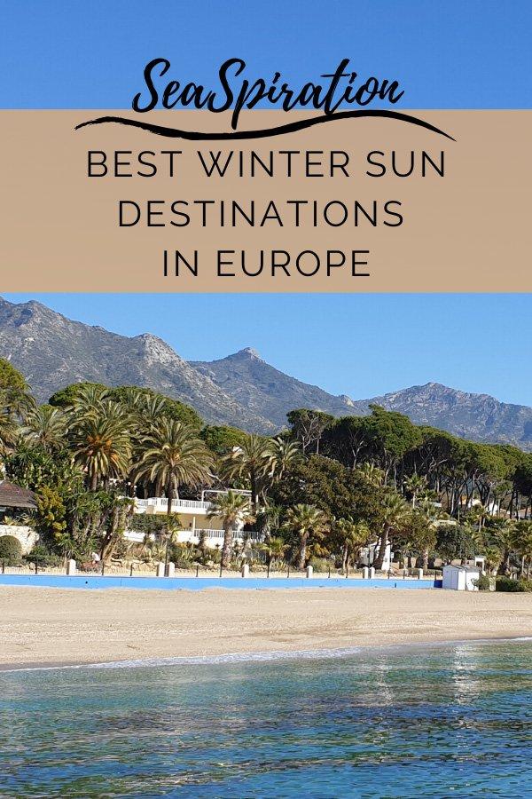 Europe best winter sun destinations pin
