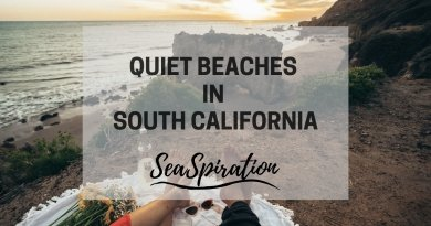 Quiet beaches in Southern California