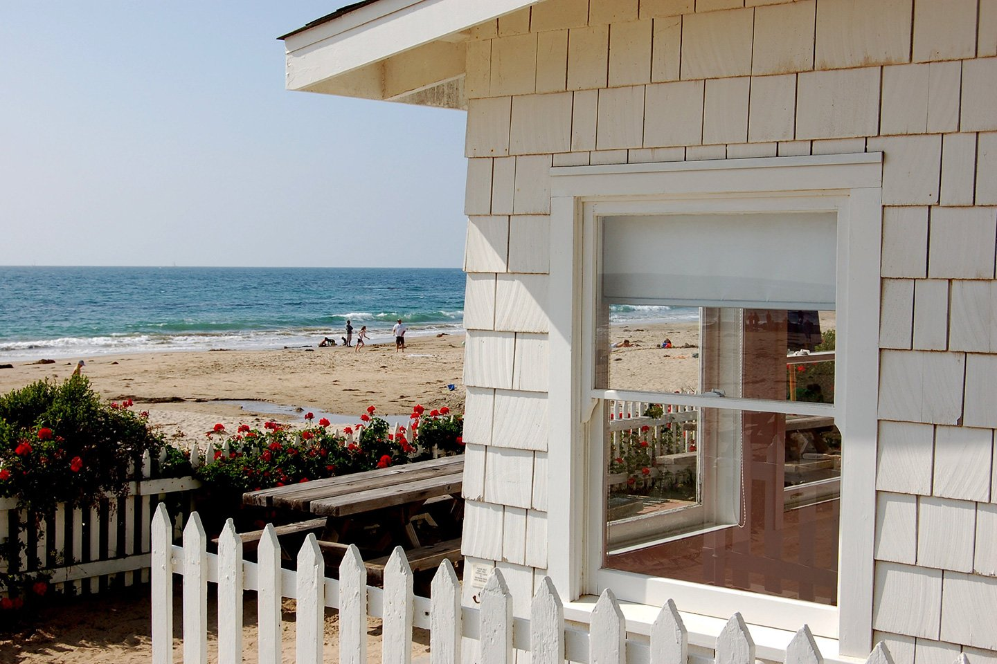 White wooden house - Crystal Cove State Beach