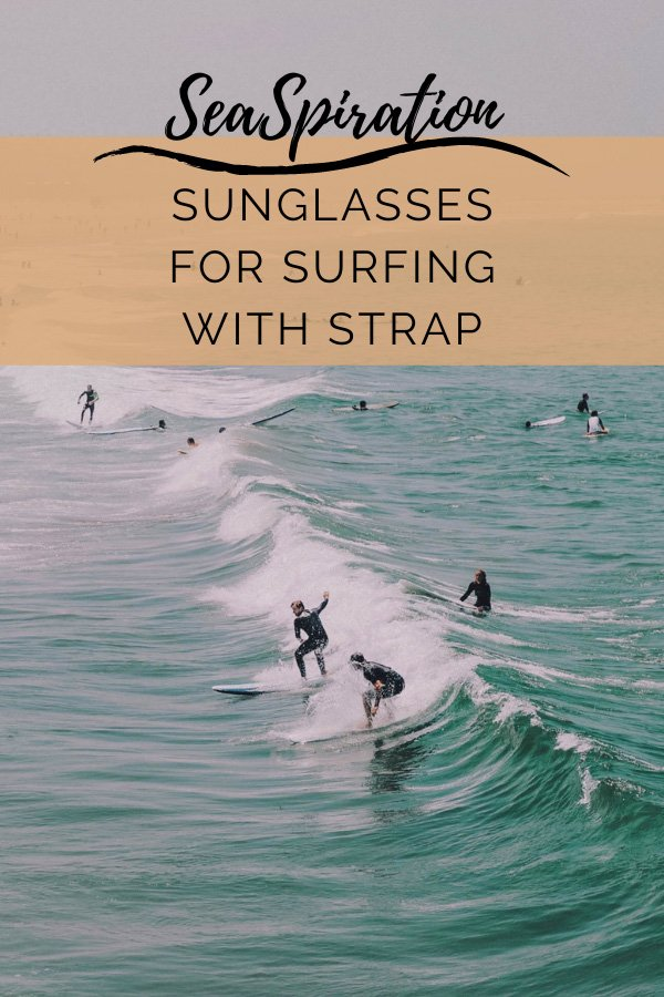 Sunglasses for surfing with strap