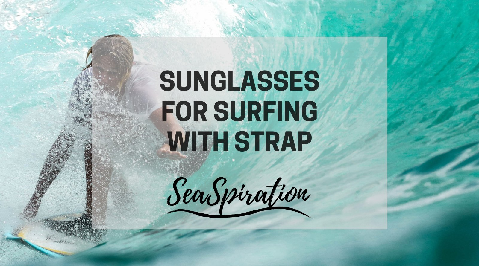 Surf sunglasses with strap