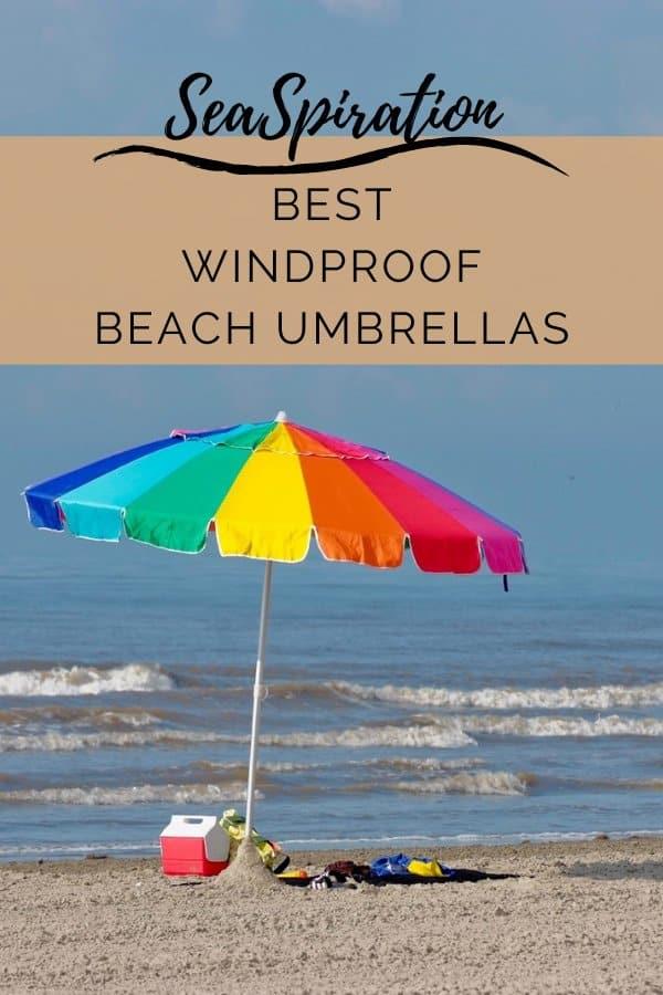Wind resistant beach umbrellas