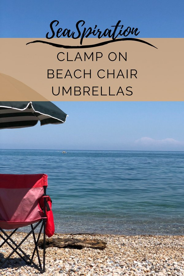 Clamp on beach chair umbrellas