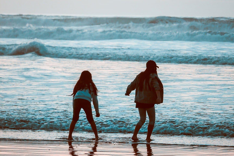 Kids playing at the beach eureka