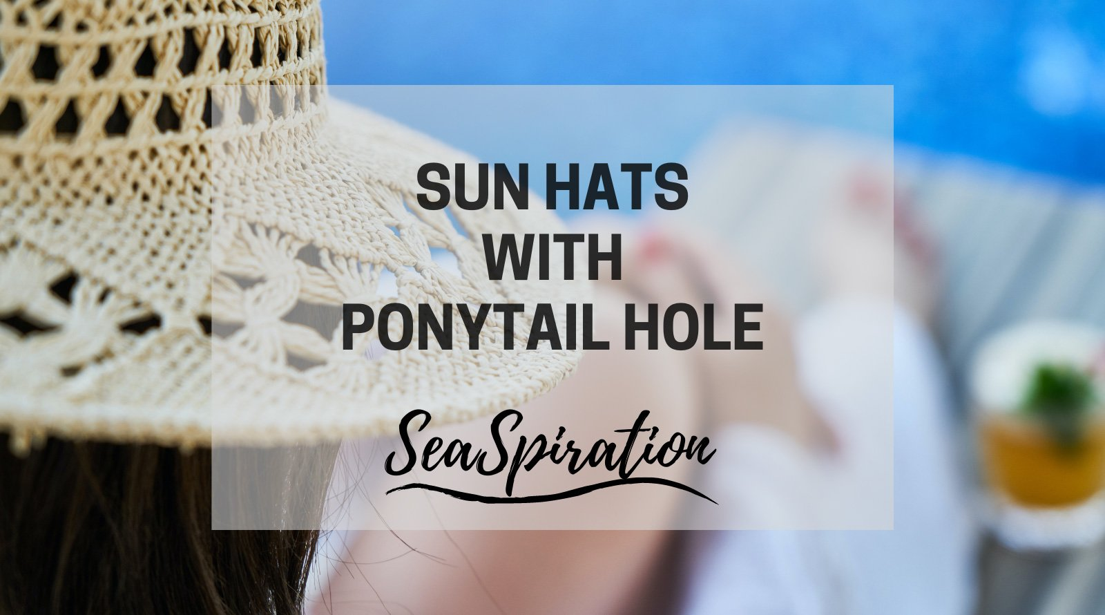 Sun hat with hole on top for ponytail