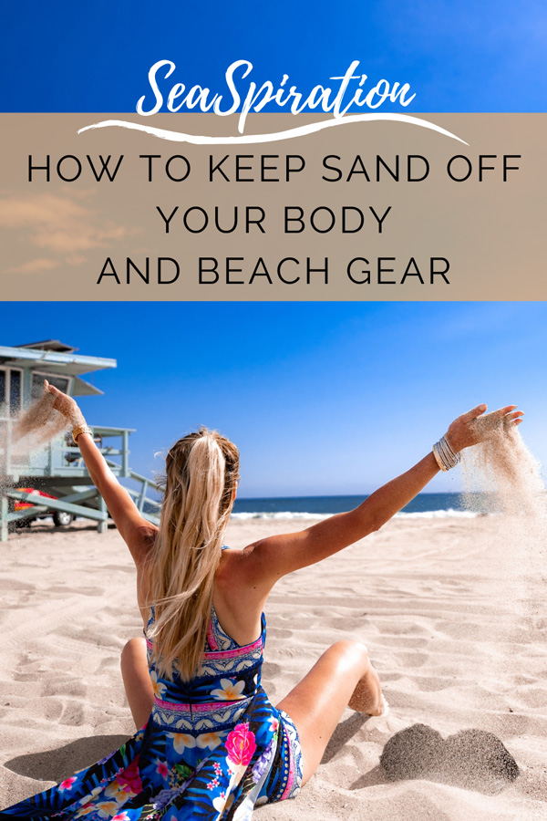 How To Keep Sand Off you At The Beach pin it