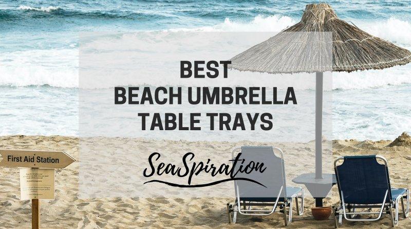 Beach umbrella table attachment