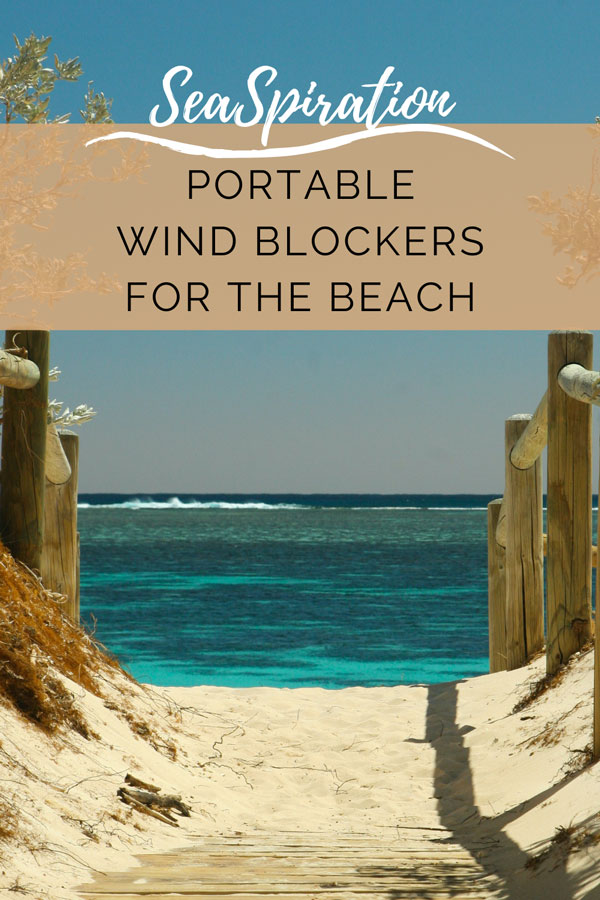 Portable wind blockers for the beach